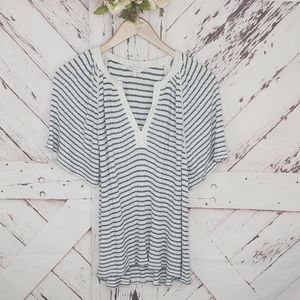 Lucky Brand Nautical Striped Top L